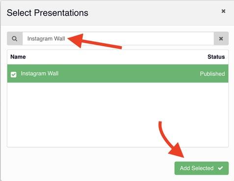 click select presentation