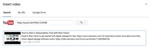 Linking to YouTube within Google Slides