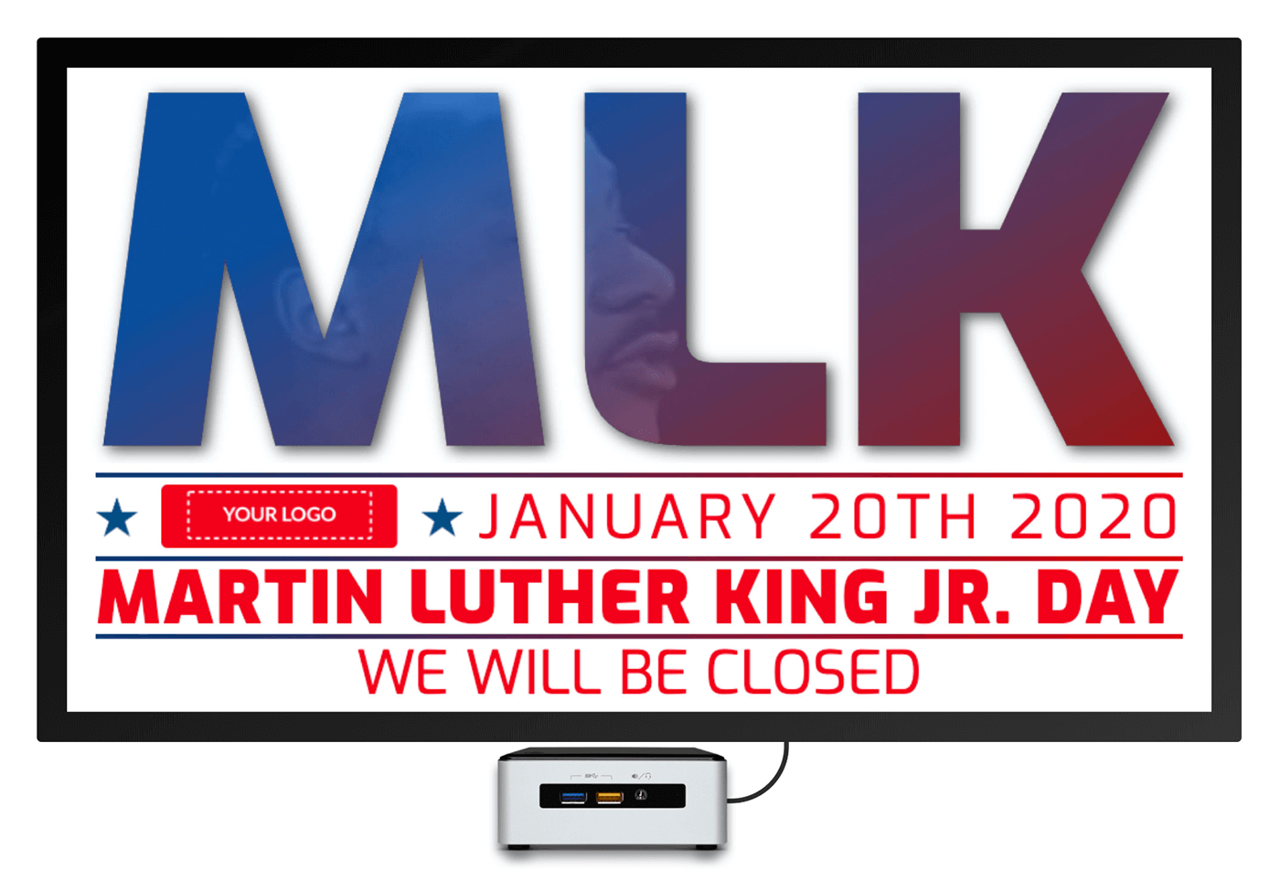 Martin Luther King digital signage template