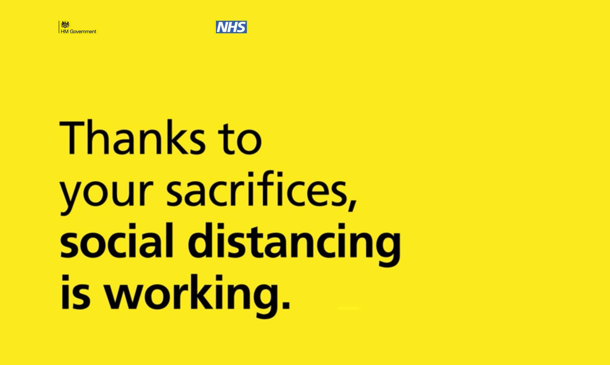 NHS social distancing is working