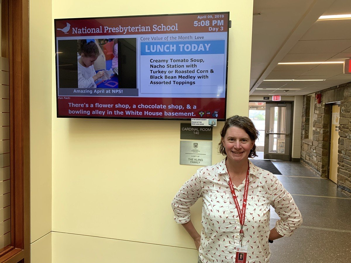 National Presbyterian School digital signage