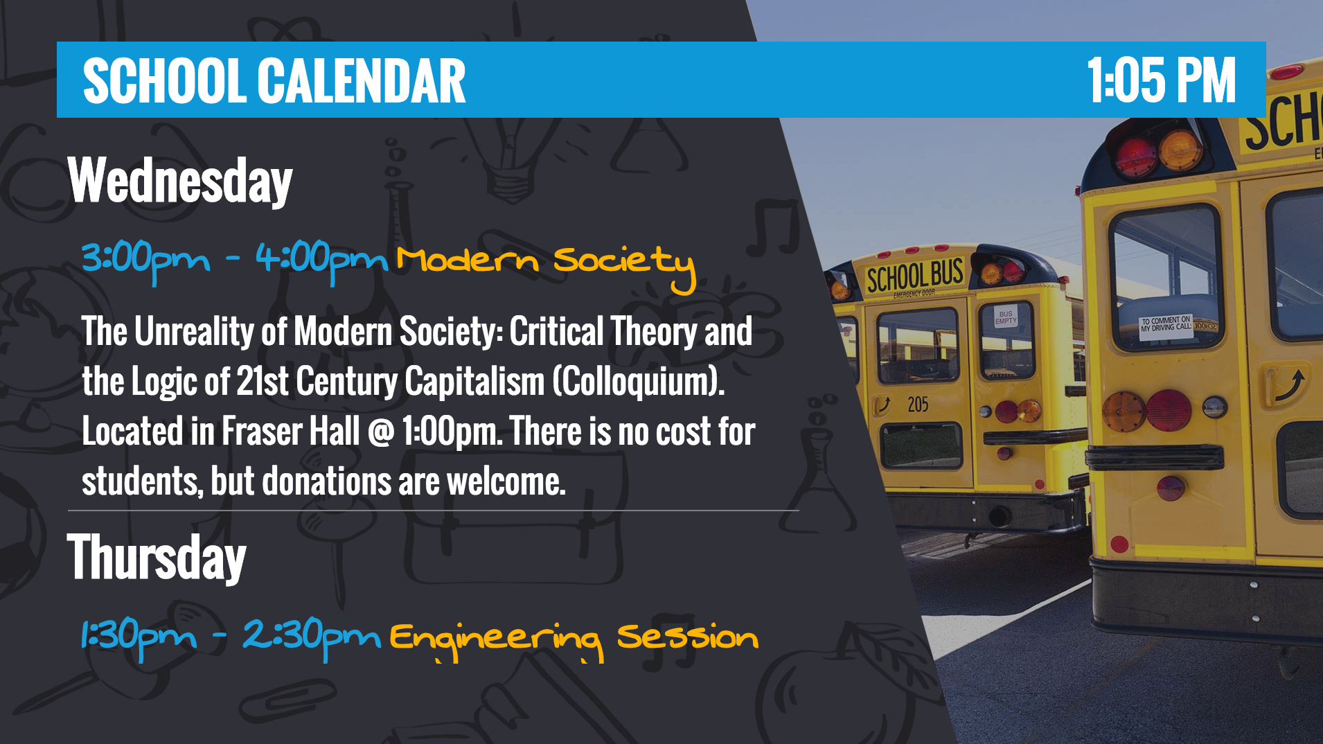 Template - Education Calendar