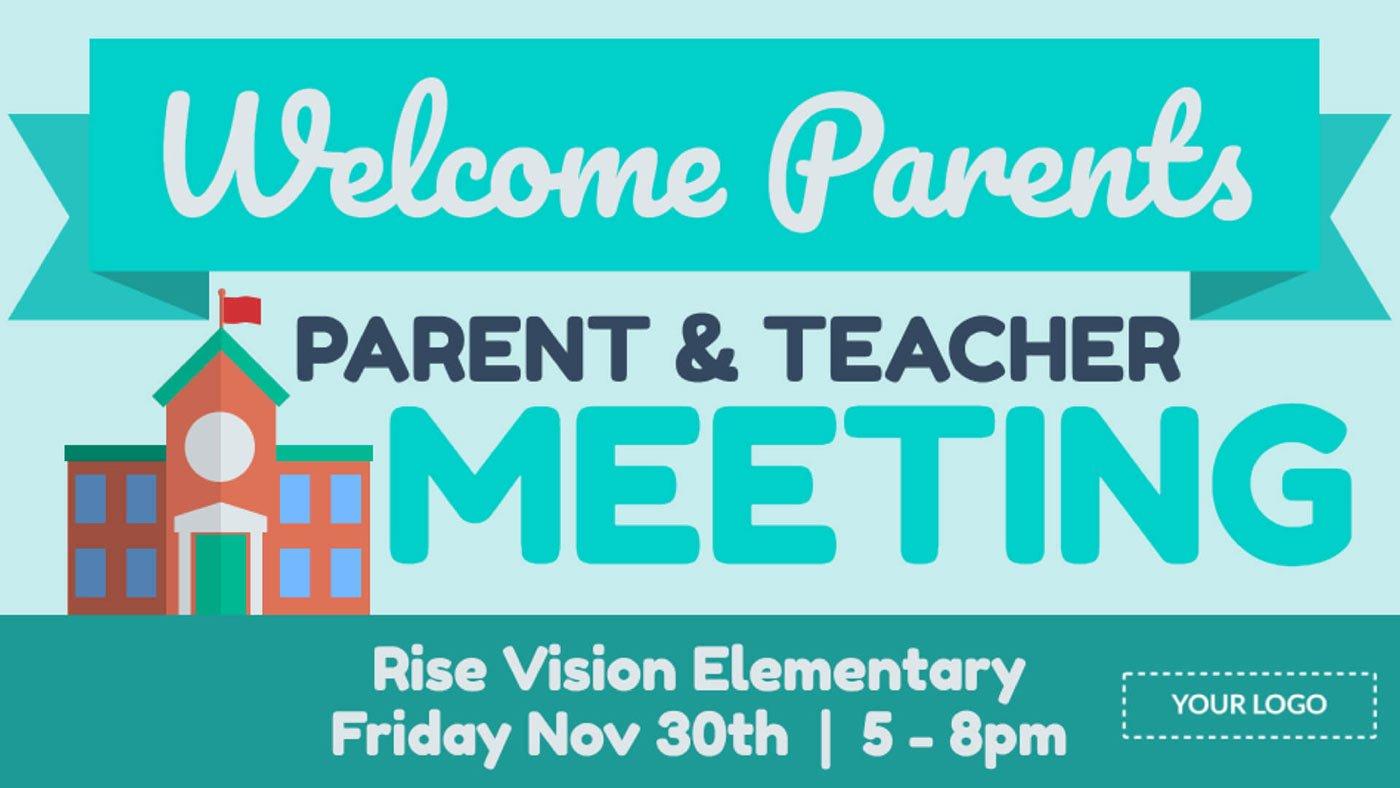Parent Teacher Meeting Digital Signage Template