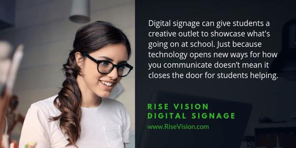 digital signage quote