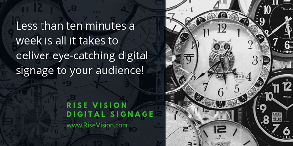 Digital Signage Time Commitment