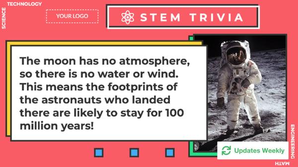 STEM Trivia Digital Signage