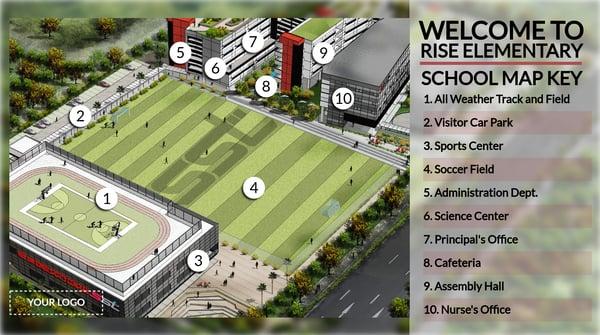 School Map digital signage