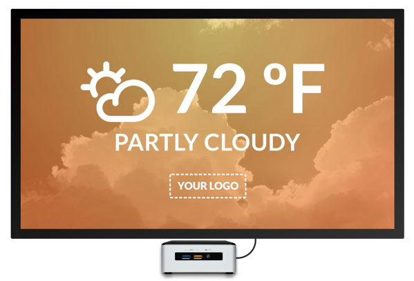 Digital signage daily weather template