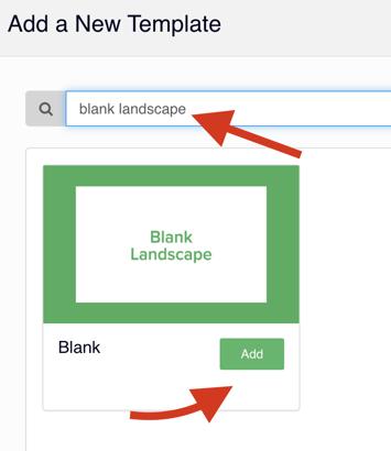 Add a Blank Landscape