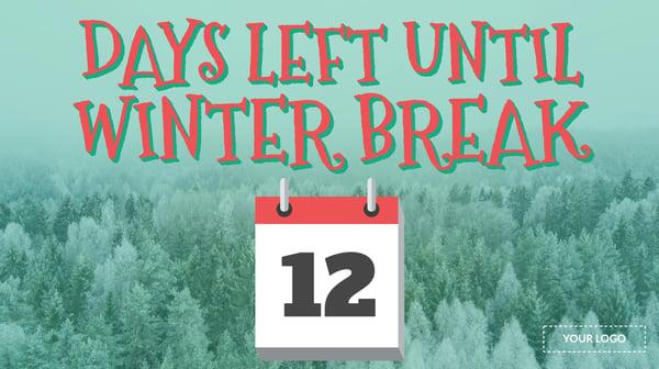 Winter Break Countdown Template