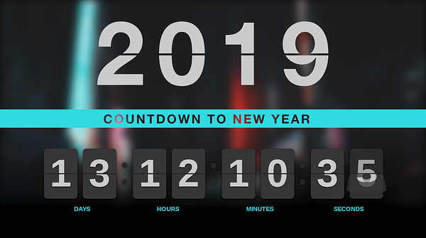 New Year countdown digital signage template