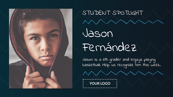 student spotlight template