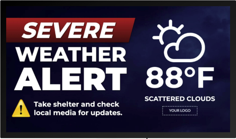 Severe Weather Alert Template_Rise Vision