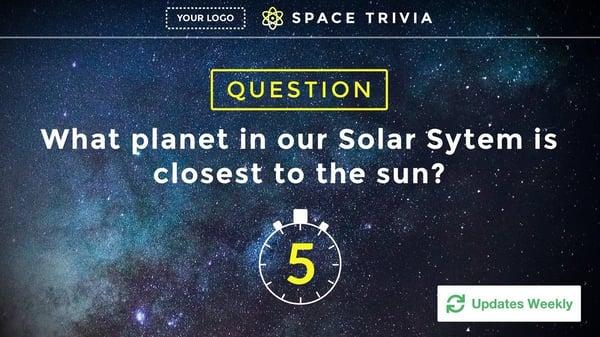 Space Trivia Digital Signage