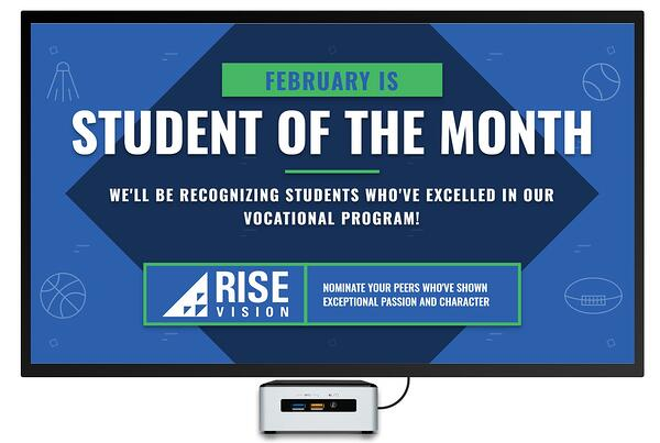 Digital Signage Template for Student of the Month