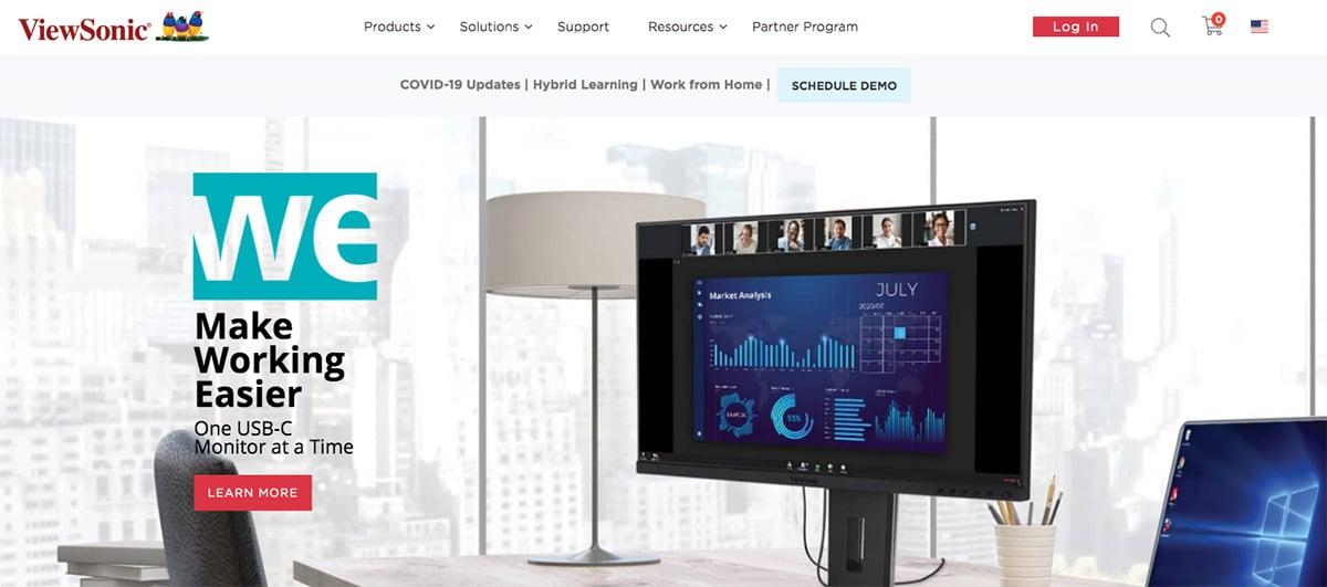 ViewSonic homepage