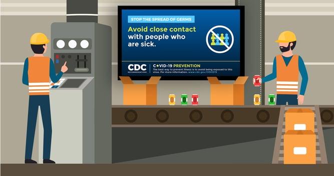 Coronavirus Warehouse Safety Signs