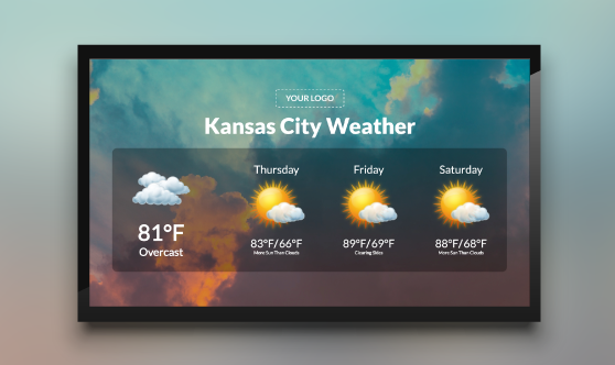Weather digital signage template
