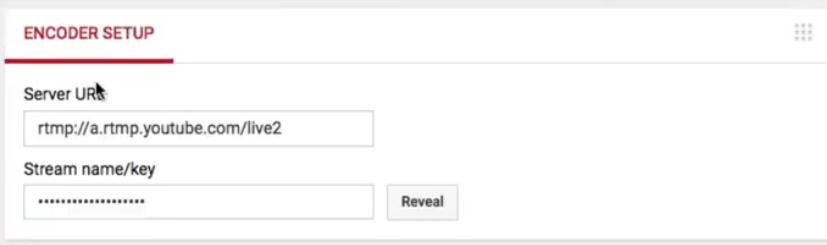 YouTube Stream Key Step One