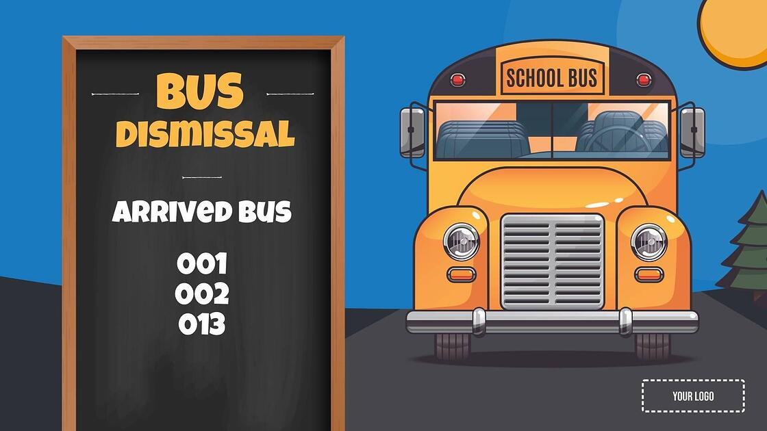announcement-bus-dismissal-template-signage-template