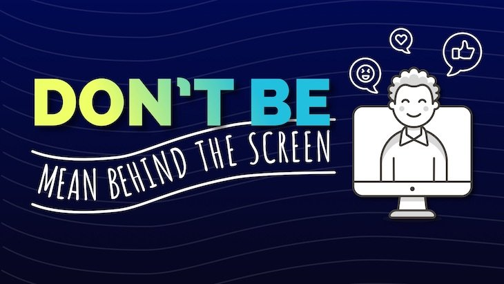 anti bullying poster don't be mean behind the screen.