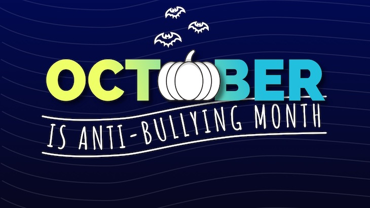 October is anti bullying month poster.