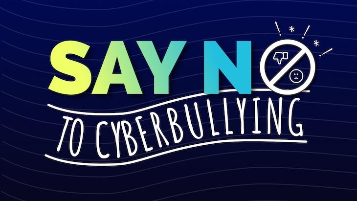 anti bullying poster say no to cyberbullying.