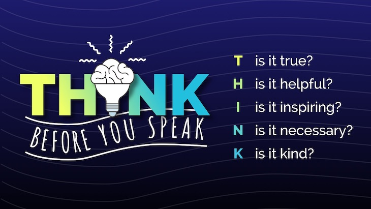 anti bullying poster think before you speak.