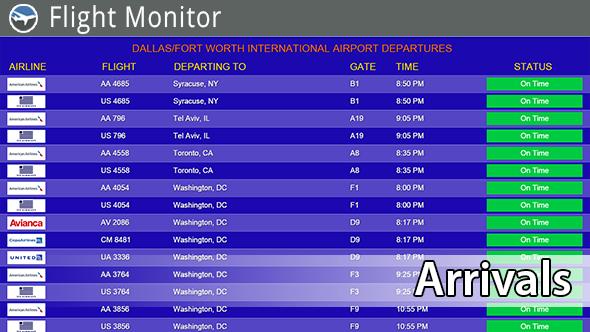 Flight Monitor Digital Signage