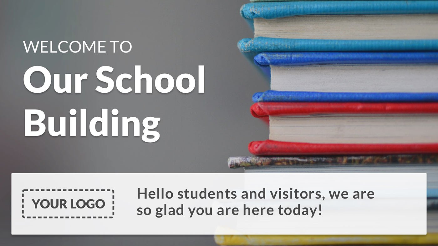 basic school welcome digital signage template