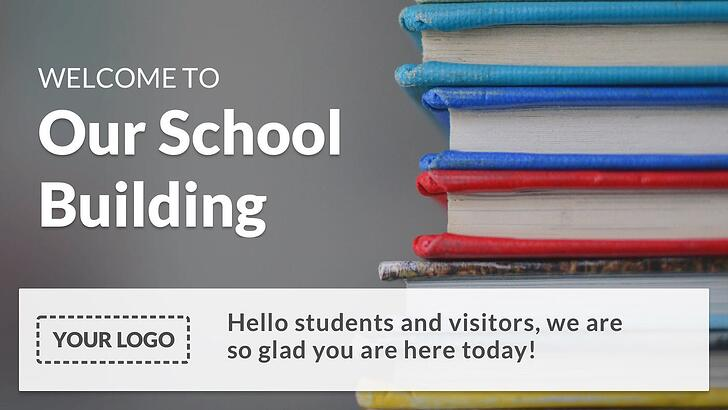 basic school welcome digital signage template.