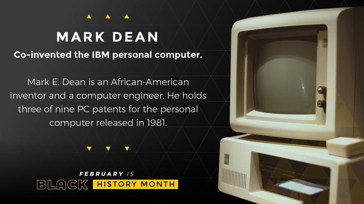 Black History Month Poster Mark Dean