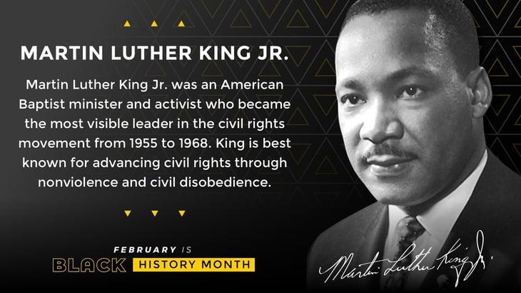 Black History Month Poster MLK