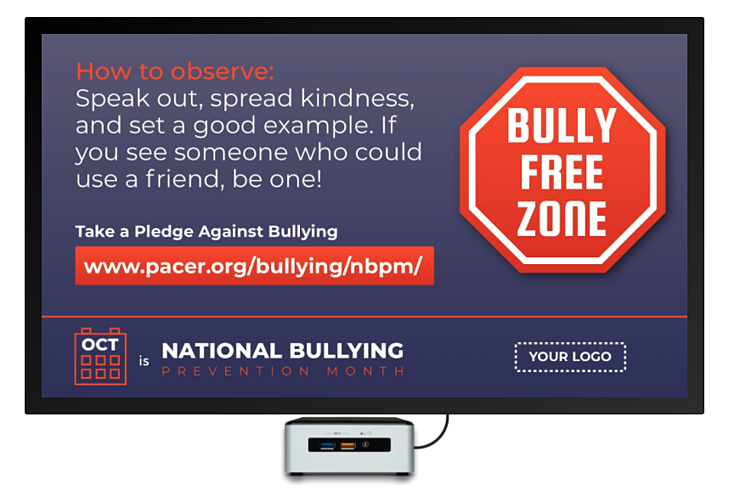 bully prevention month digital signage template