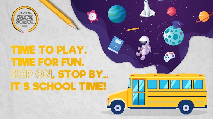 Use this school bus time poster to welcome students back to school.