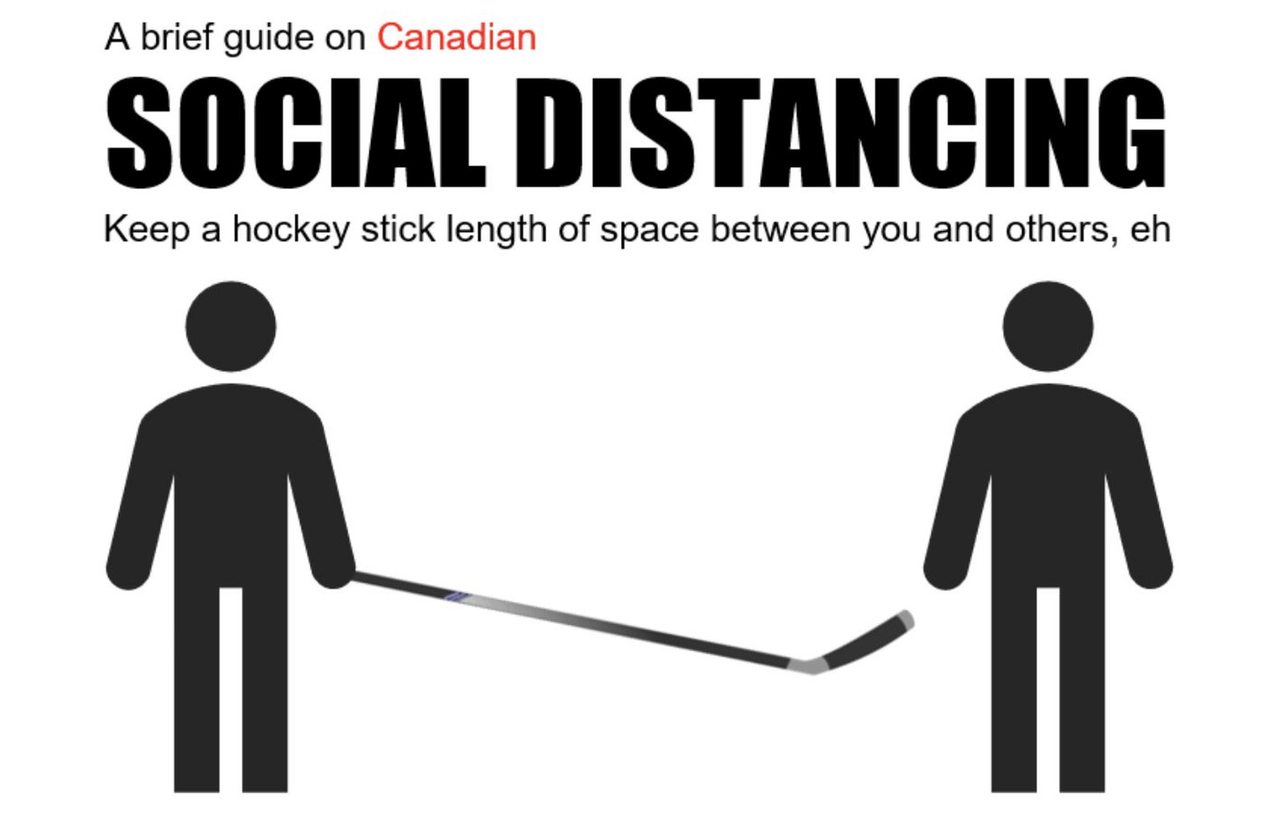 canadian social distancing poster
