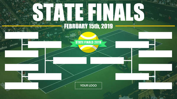 State finals bracket digital signage template