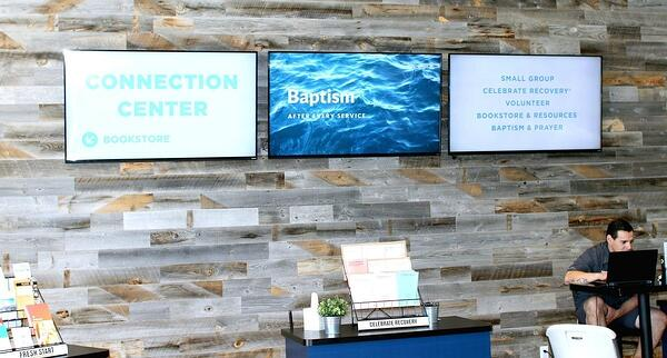 connection center digital signage wall