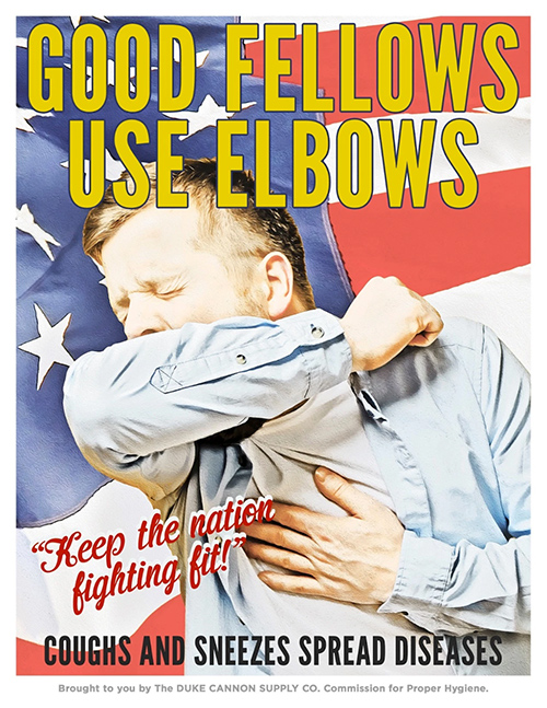 coronavirus propaganda style poster