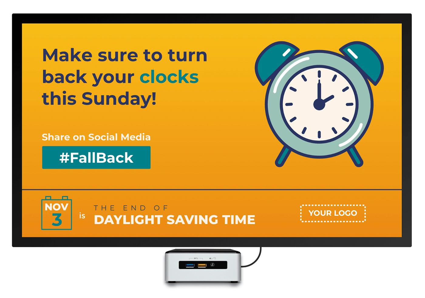 daylight savings time digital signage template