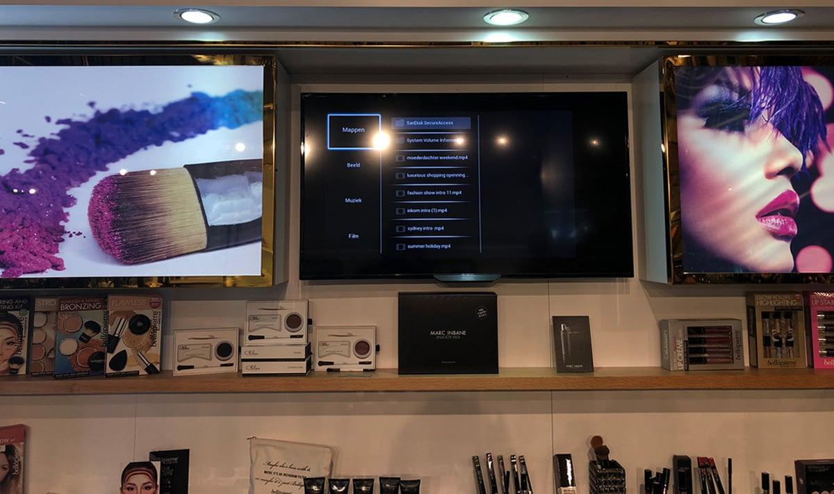 Digital Signage Error Cosmetic Counter