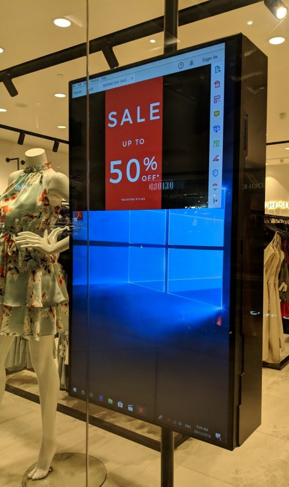 Digital Signage Failure at Department Store