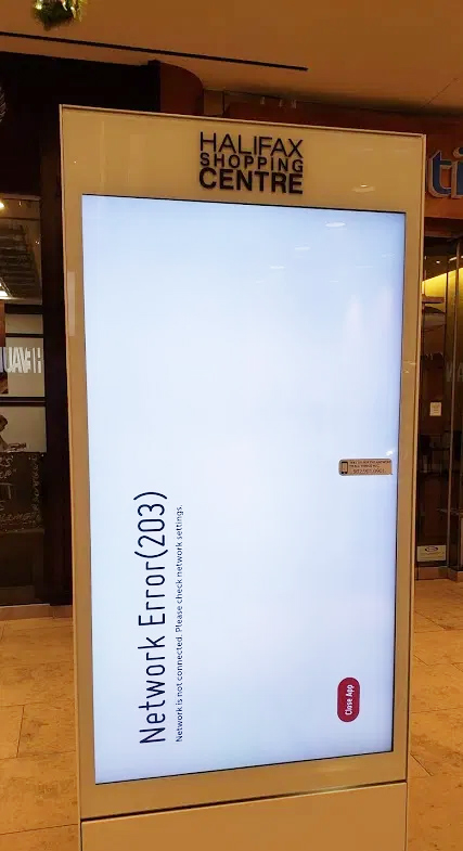 Digital Signage Network Error Shopping Mall