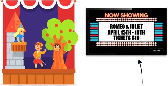Digital Signage for School Theaters