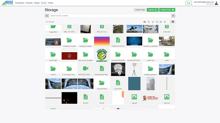 A digital signage software file manager for hosting unlimited files and serving them to your displays.