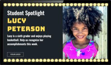Digital Signage Student Spotlight Template