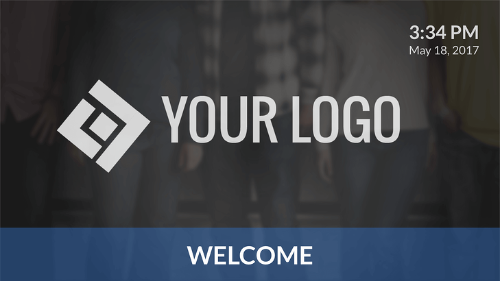 Digital Signage Template Welcome Sign.