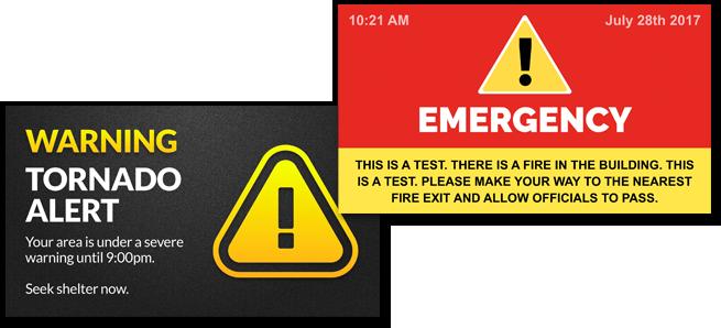 Emergency Alerts for Digital Signage