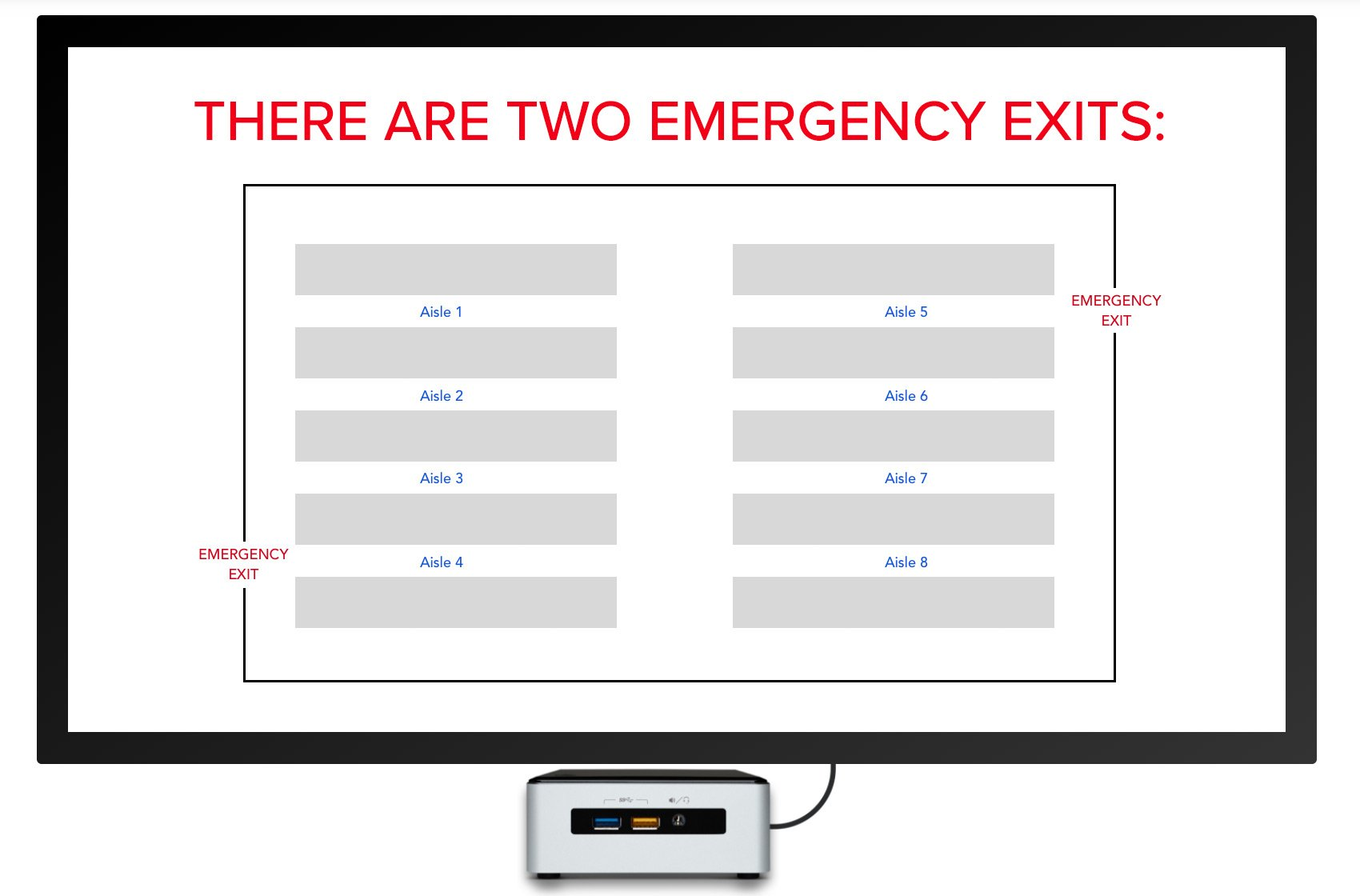 emergency exit map digital signage