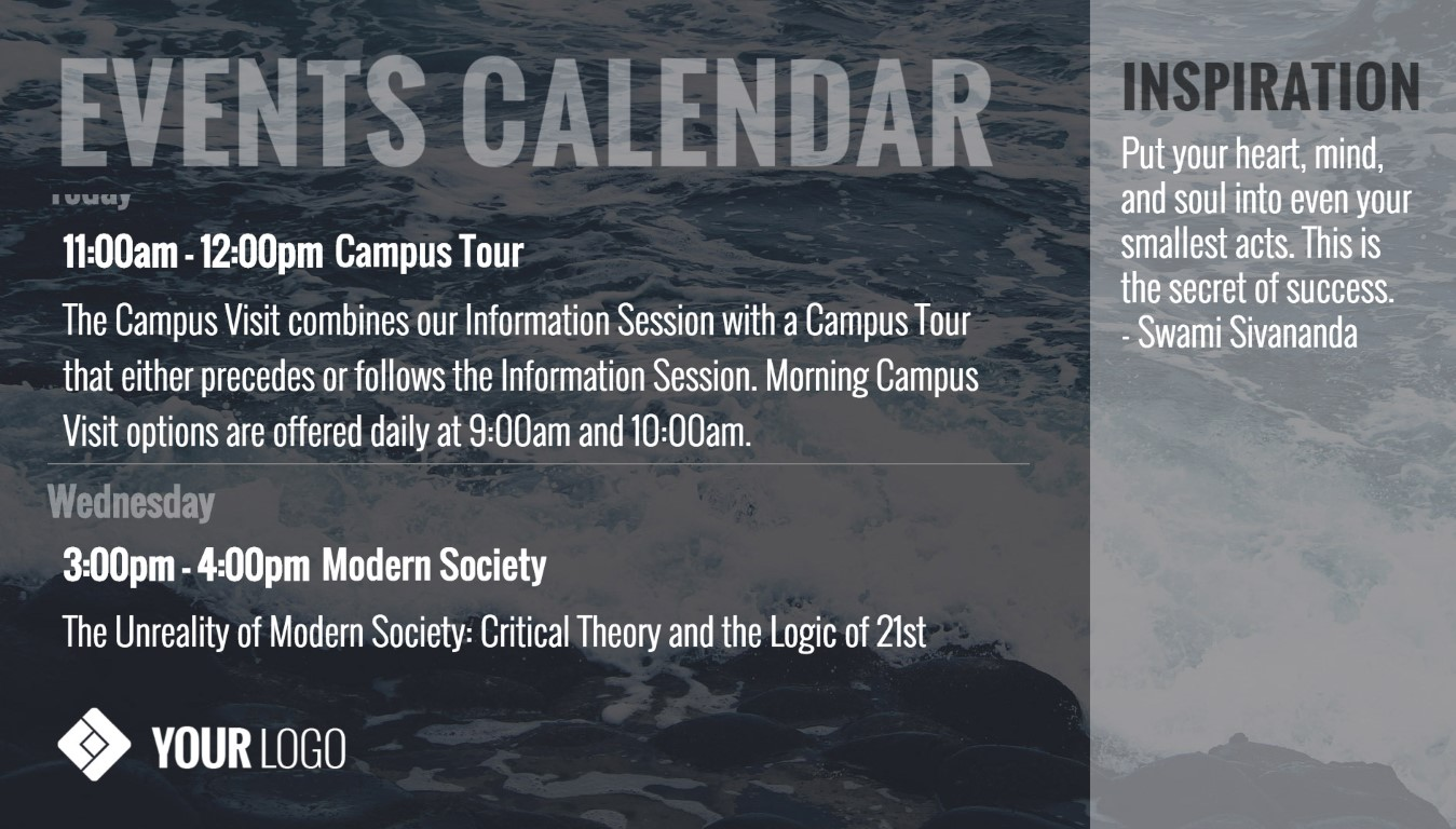 events-calendar-digital-signage-template